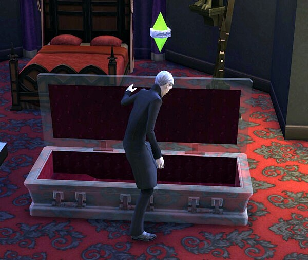 Crystal Coffin Bed by DBCAB from Mod The Sims