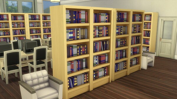 Marmalade Library by SweetSimmerHomes from Mod The Sims