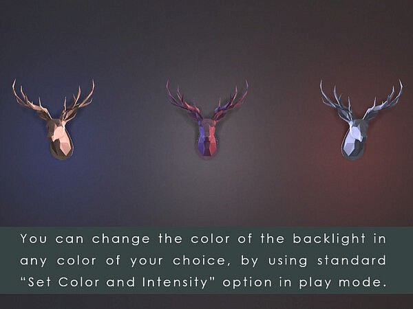 LED backlit Wall Art Origami Deer Head by TyrAVB from TSR