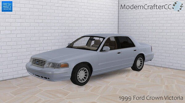 1999 Ford Crown Victoria sims 4 cc