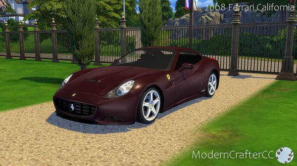 2008 Ferrari California sims 4 cc