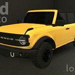 2021 Ford Bronco 4 doors sims 4 cc