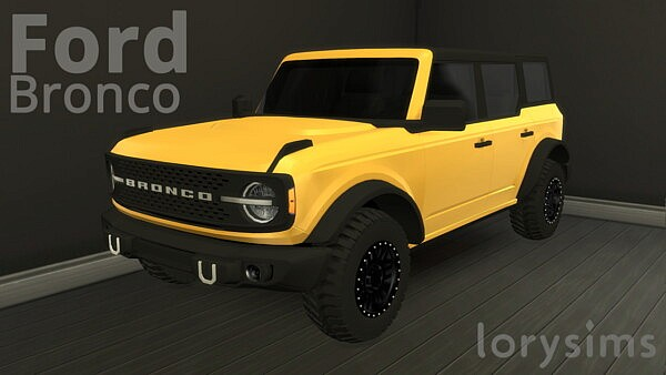 2021 Ford Bronco 4 doors sims 4 cc
