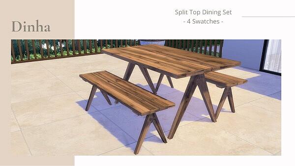 Split Top Dining Set from Dinha Gamer