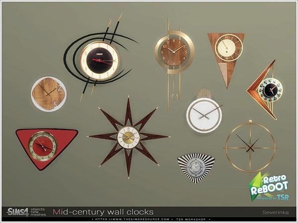 Mid century wall clocks by Severinka from TSR