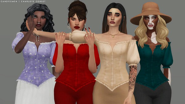 Charlote Corset from Candy Sims 4
