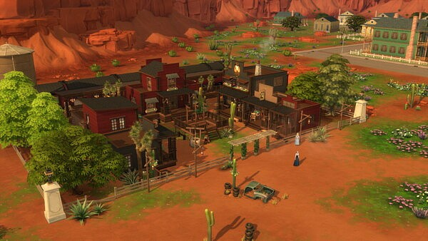 Full Western Town with Train by bradybrad7 from Mod The Sims