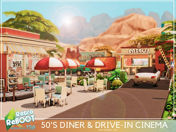 50s Diner and Drive in Cinema by Mini Simmer from TSR