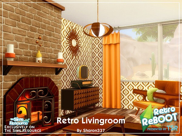 Retro Living Room by sharon337 from TSR