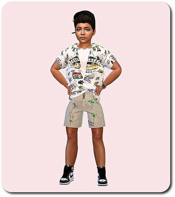 Designer Set for Child from Sims4 boutique