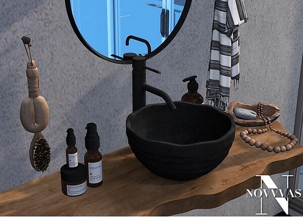 Rustic Bathroom from NOVVAS