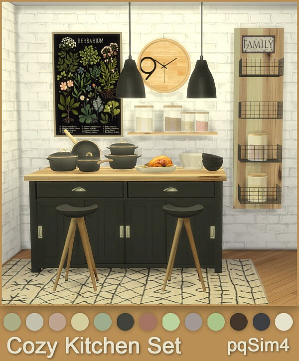 Cozy Kitchen Set from PQSims4