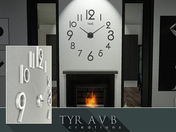 3D Wall Clock sims 4 cc
