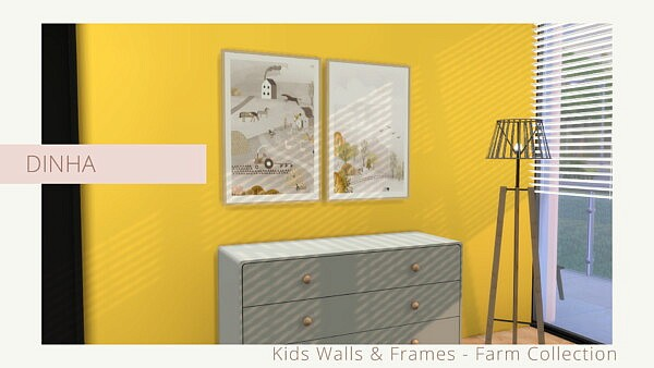 Kids Walls and Frames Farm Collection from Dinha Gamer