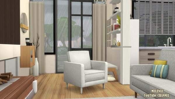 Cozy Eco house from Sims 3 by Mulena