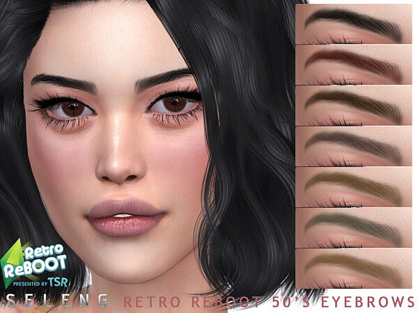 50s Eyebrows sims 4 cc