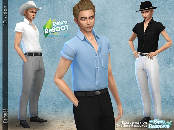 50s ManStyle sims 4 cc
