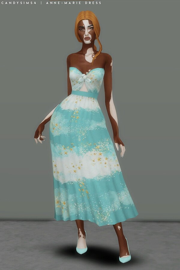Anne Marie Dress from Candy Sims 4