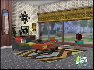 70s Living set sims 4 cc