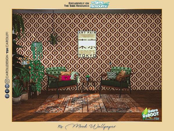 70s Mood Wallpaper sims 4 cc