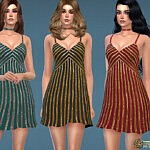 70s Sequin Embellished Disco Dress sims 4 cc
