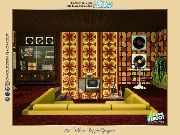 70s Vibes Wallpaper sims 4 cc