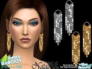70s disco mesh earrings sims 4 cc