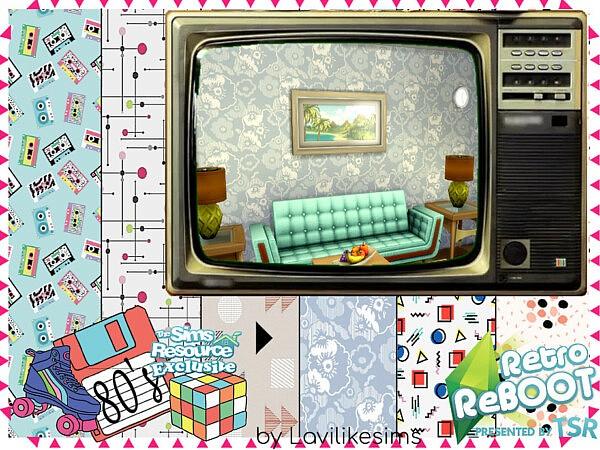 80s Wallpaper sims 4 cc