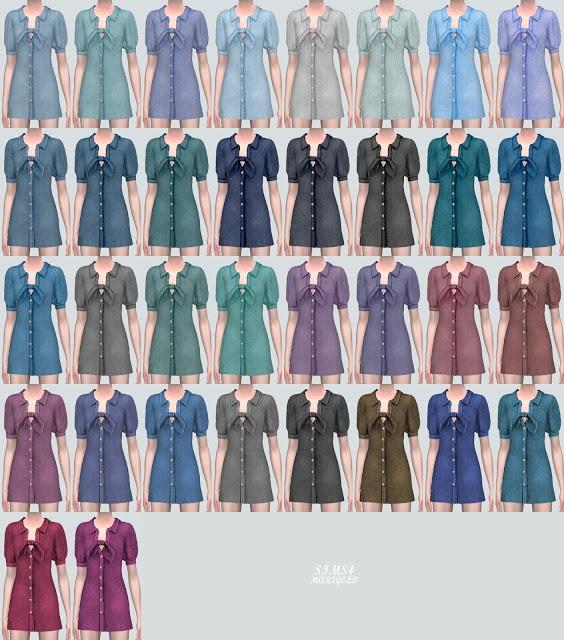 P Ribbon D Mini Dress from SIMS4 Marigold
