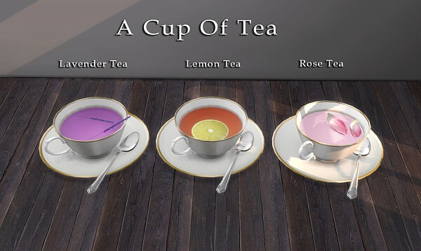 A Cup of Tea Decoration from Leo 4 Sims