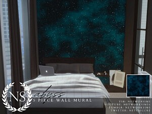 Abyss Wall Mural sims 4 cc