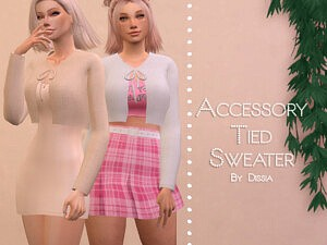 Accessory Tied Sweater sims 4 cc