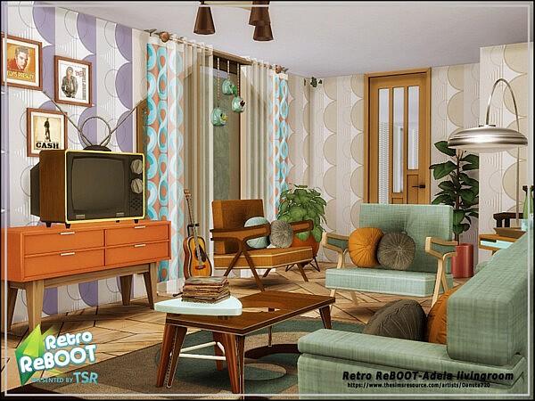 Adela livingroom sims 4 cc