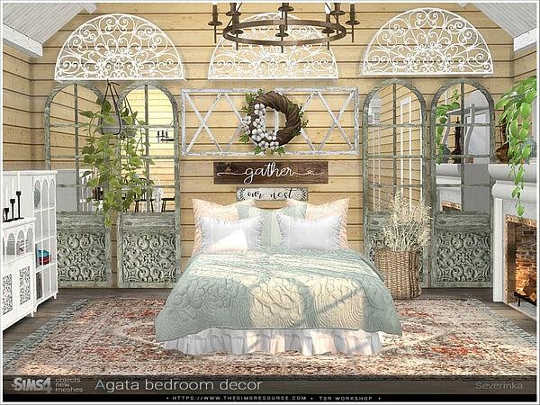 Agata bedroom decor sims 4 cc
