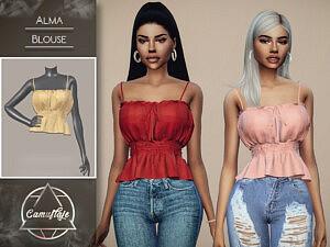 Alma Blouse sims 4 cc