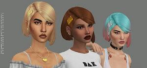 Angele Hair and hair clips sims 4 cc