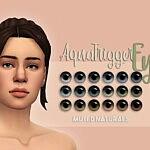 Aqua Trigger Eyes Muted Naturals sims 4 cc