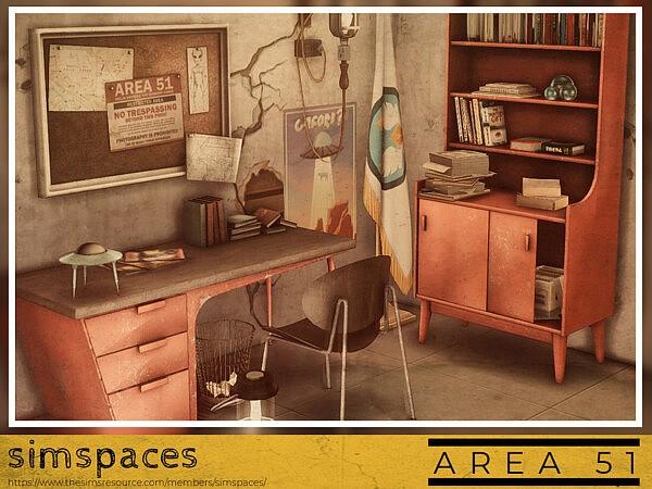 Area 51 office set sims 4 cc