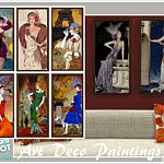 Art Deco Paintings sims 4 cc