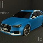 Audi RS3 sims 4 cc