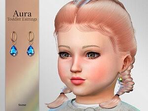 Aura Toddler Earrings sims 4 cc