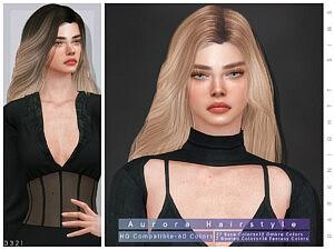 Aurora Hair sims 4 cc