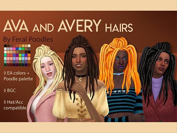 Ava Hairstyle sims 4 cc