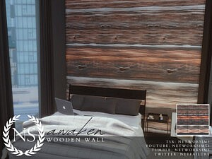 Awaken Wooden Walls sims 4 cc