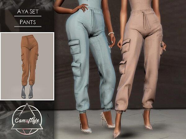 Aya Set Pants sims 4 cc