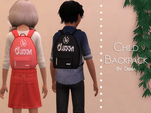 Backpack Child sims 4 cc