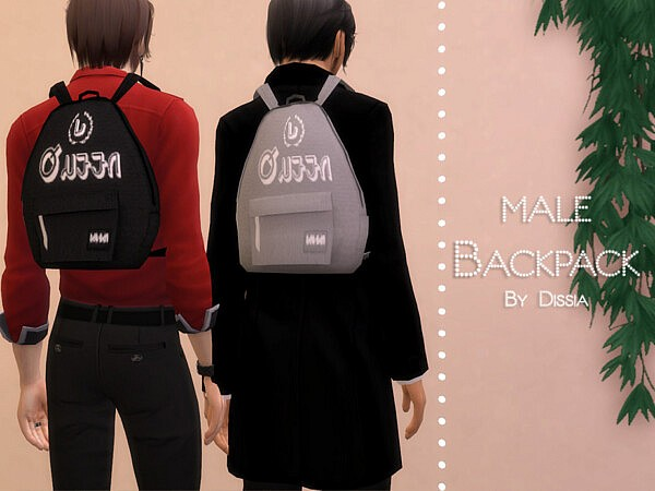 Backpack Male sims 4 cc