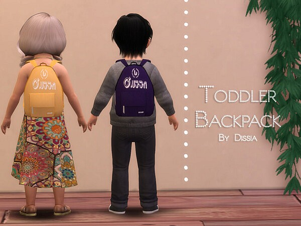 Backpack Toddler sims 4 cc