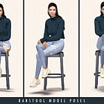 Barstool Model Poses sims 4 cc