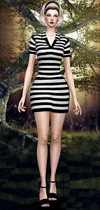 Base dress sims 4 cc 1